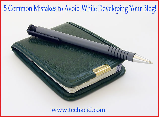 5 Common Mistakes to Avoid While Developing Your Blog!