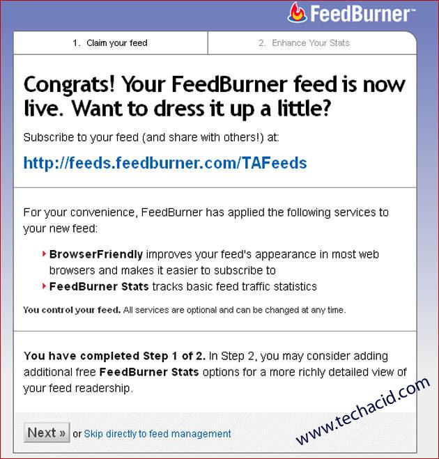 FeedBurner Feeds