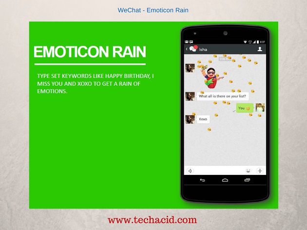 Emoticon Rain