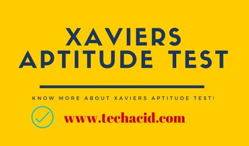 Xaviers Aptitude Test!