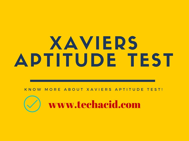 Xaviers Aptitude Test!