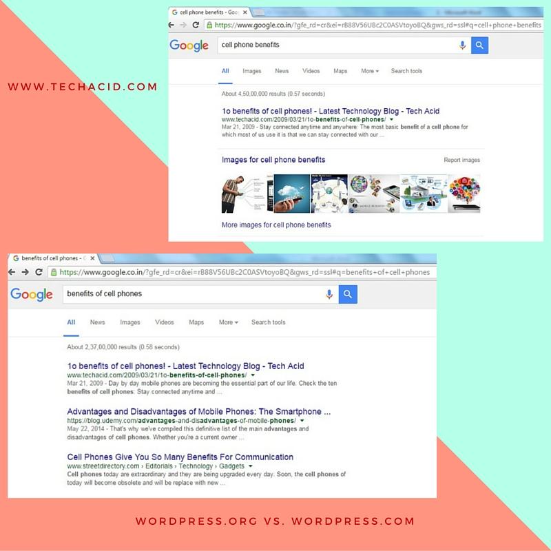 WordPress.org vs. WordPress.com - SEO