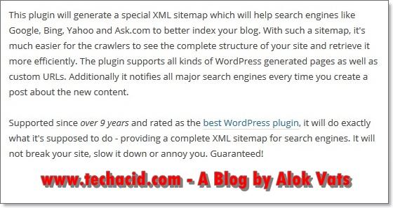 Google XML Sitemaps details