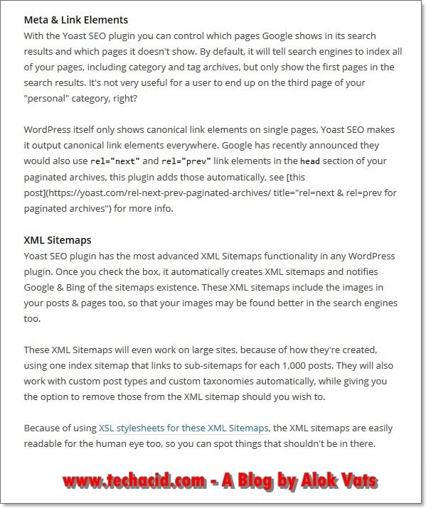 Yoast SEO Features